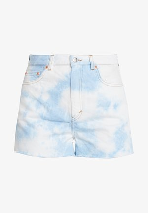 KELLY - Shorts di jeans - tiedye blue wash
