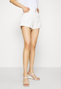 Monki - TALLIE  - Jeansshorts - white light ecru - 0