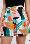 Monki - EMBER - Shorts - green/orange/pink