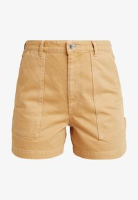 Monki - RIO SHORTS - Jeansshorts - beige/yellow - 4