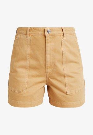 RIO SHORTS - Short en jean - beige/yellow