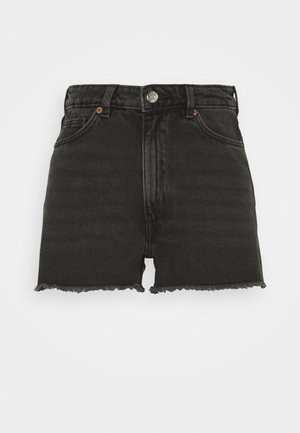 KELLY - Denim shorts - black