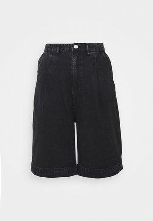 NANETTE DENIM SHORTS - Shorts - black dark asia