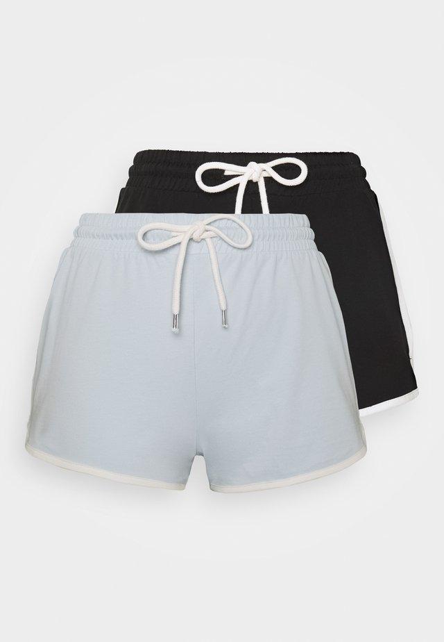STINA 2 PACK - Shorts - blue/black
