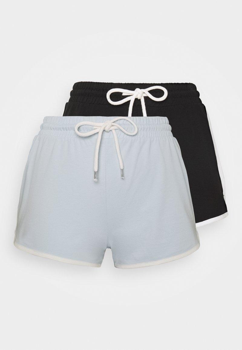 Monki - STINA 2 PACK - Pantalon de survêtement - blue/black