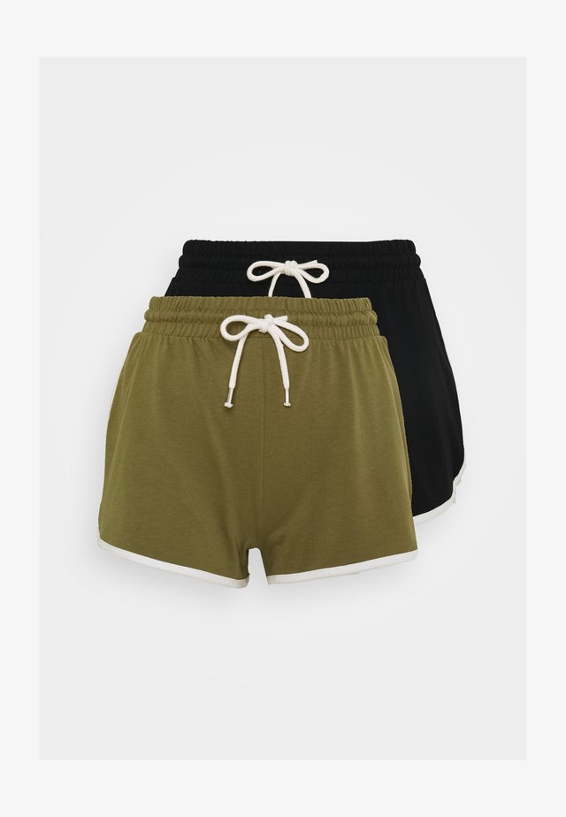 STINA 2 PACK - Shortsit - khaki/black dark solid