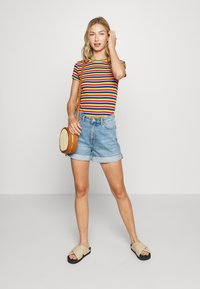 Monki - TALLIE - Jeansshorts - blue medium dusty - 1