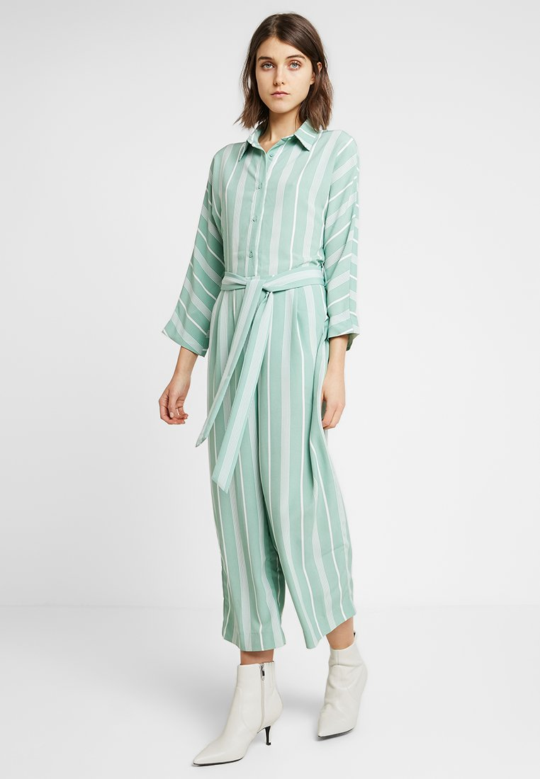 Monki - HEDDA - Jumpsuit - green/white