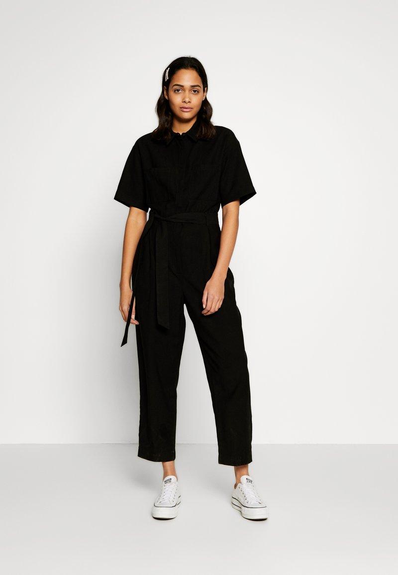 Monki - AUGUSTA - Overal - black dark unique
