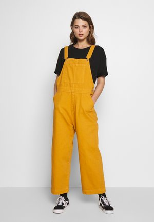 GIANNA DUNGAREE - Lacláče - yellow medium dusty