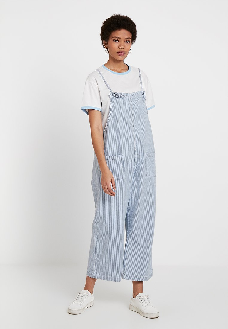 Monki - MONA DUNGAREE - Latzhose - blue/white