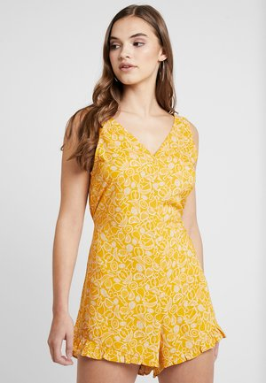 SELINN PLAYSUIT - Mono - yellow/white
