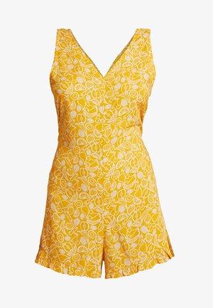 SELINN PLAYSUIT - Jumpsuit - yellow/white