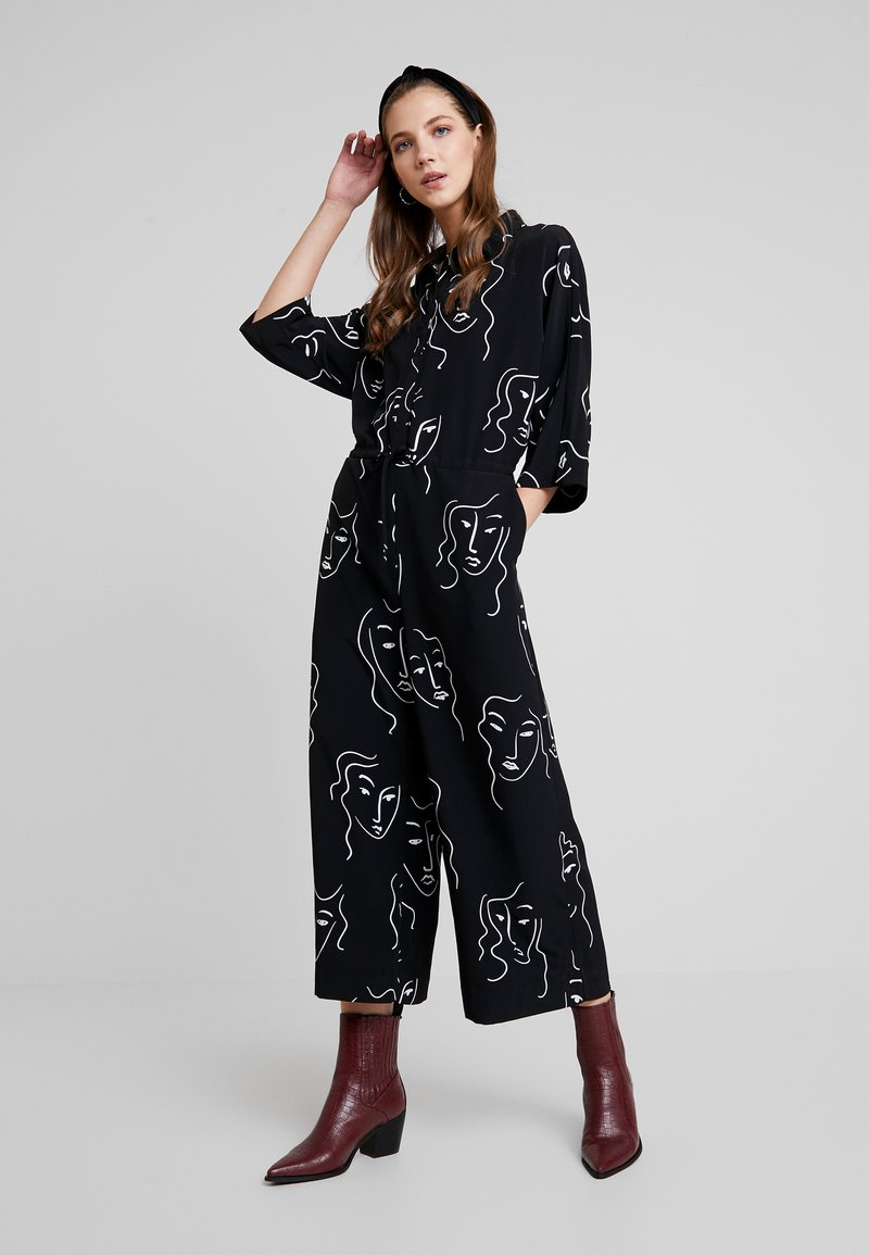 Monki - HARRIOT UNIQUE - Jumpsuit - black