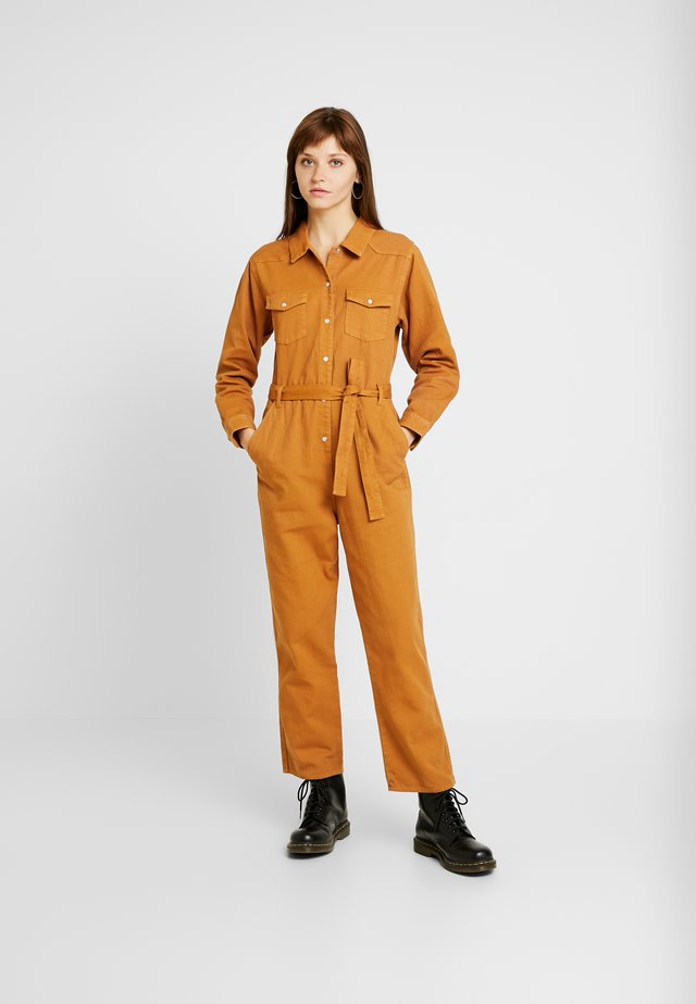 JAY OVERALL - Jumpsuit - tobacco