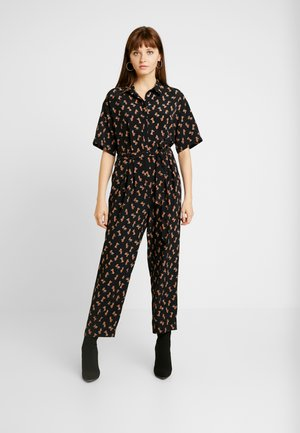 MERRI - Jumpsuit - black dark unique/rust