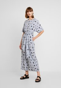 Monki - ANTONIA - Tuta jumpsuit - blue dusty light - 0