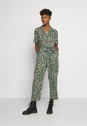 PHOEBE - Overall / Jumpsuit - khaki green/blue