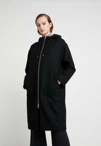 Monki - LEMON HOODED COAT - Abrigo - black dark - 0