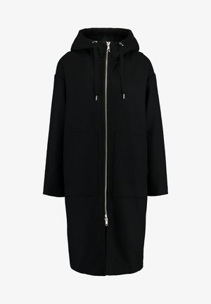 LEMON HOODED COAT - Zimní kabát - black dark