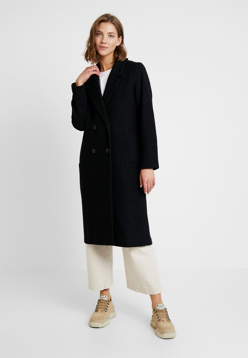 Monki - LOU COAT - Abrigo - black dark solid
