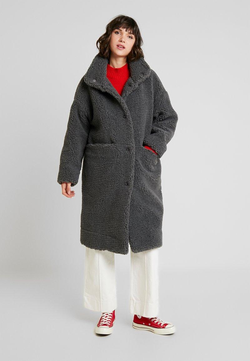 Monki - SASHI COAT - Mantel - grey melange