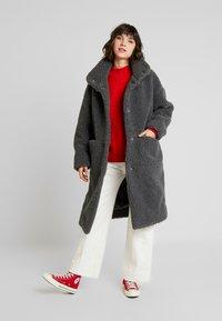 Monki - SASHI COAT - Classic coat - grey melange - 1