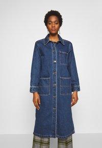 Monki - DIANA COAT - Classic coat - blue medium dusty - 0