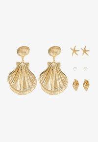Monki - ATHENA HOOPS 4 PACK - Náušnice - gold-coloured - 3