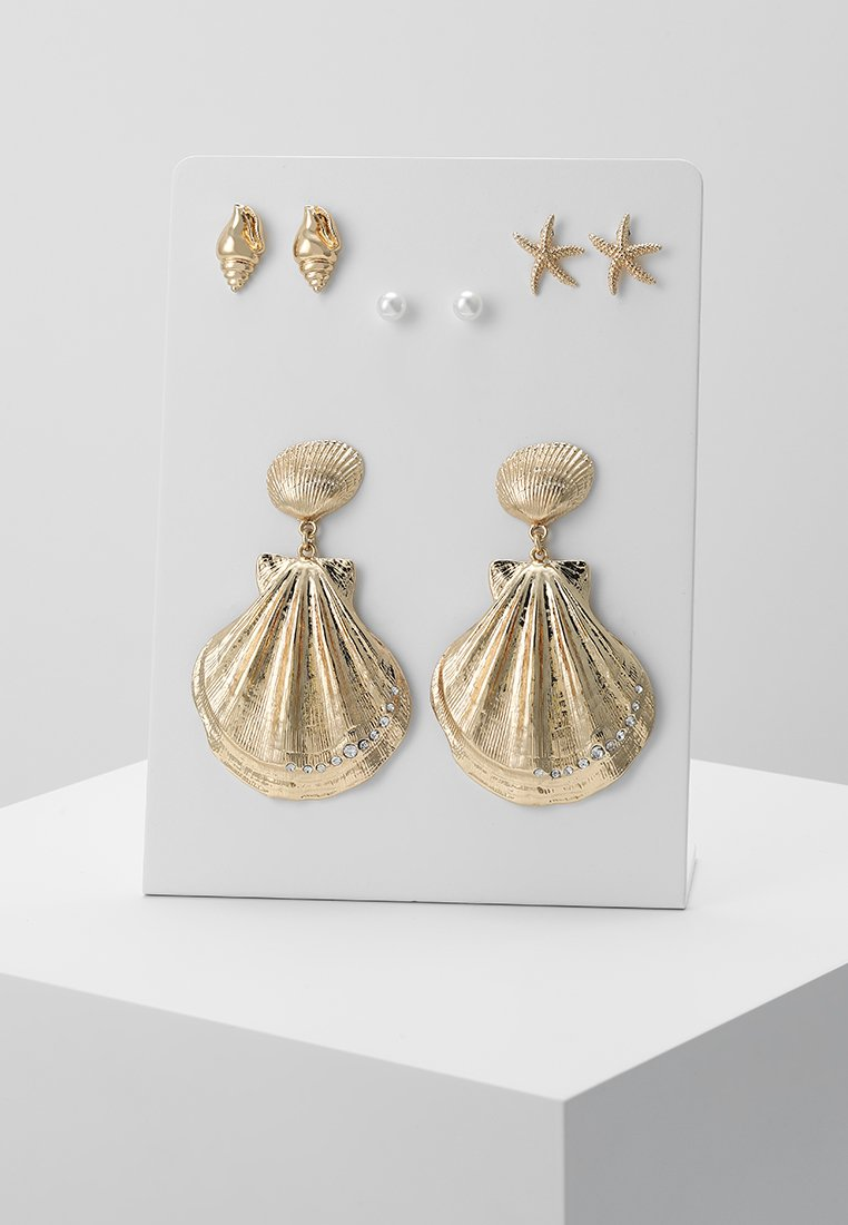Monki - ATHENA HOOPS 4 PACK - Náušnice - gold-coloured