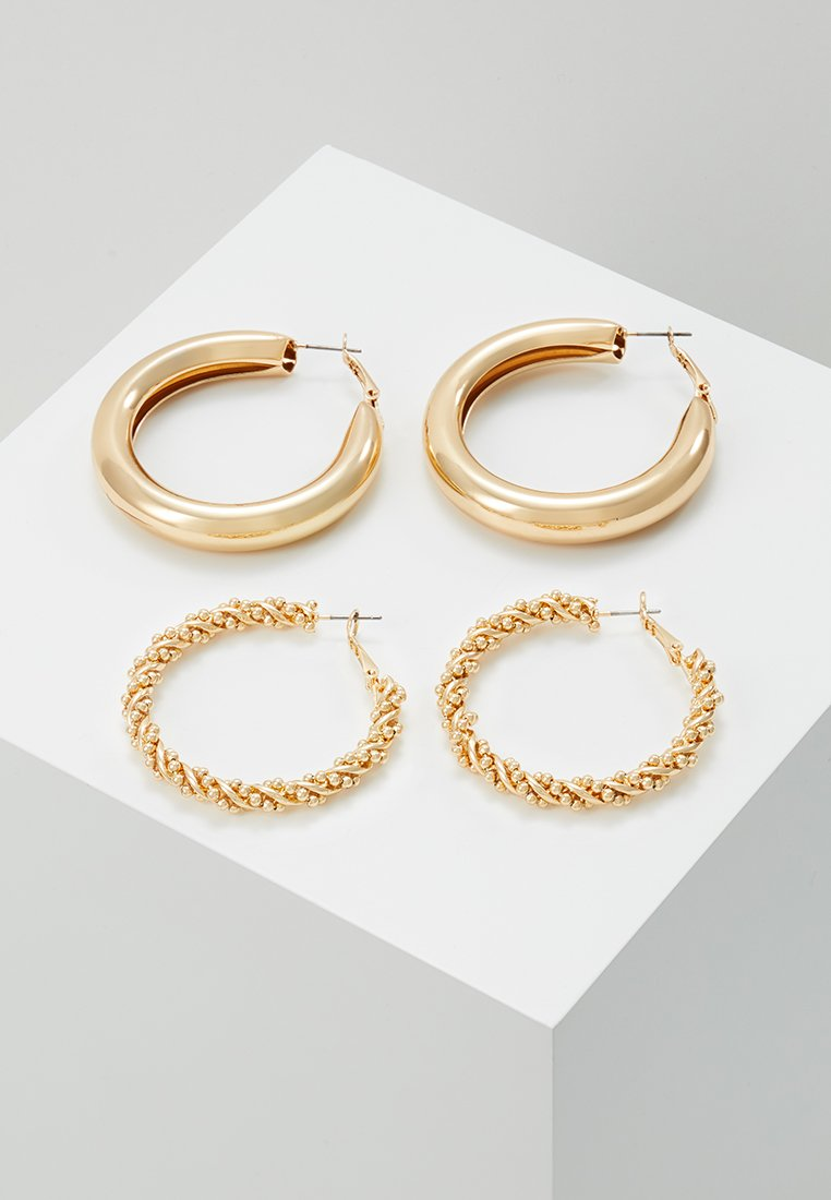 Monki - 2PACK SISSI HOOPS - Pendientes - gold-coloured