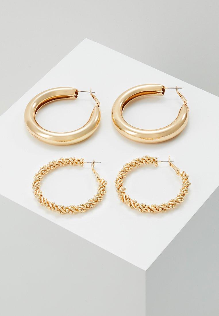 Monki - 2PACK SISSI HOOPS - Náušnice - gold-coloured