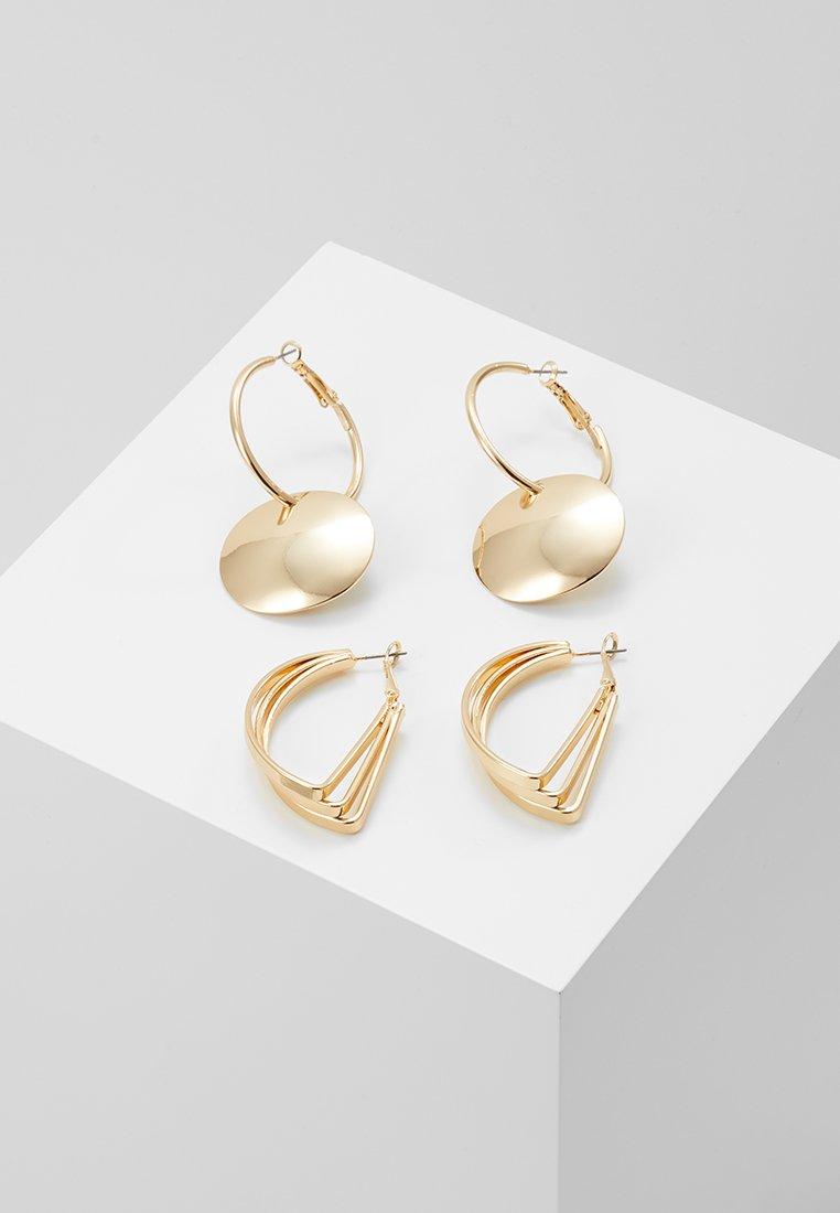 Monki - LORA EARRINGS 2 PACK - Ohrringe - gold-coloured