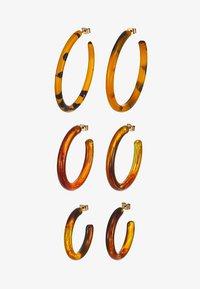 Monki - INGA HOOPS 3 PACK - Earrings - multi - 3