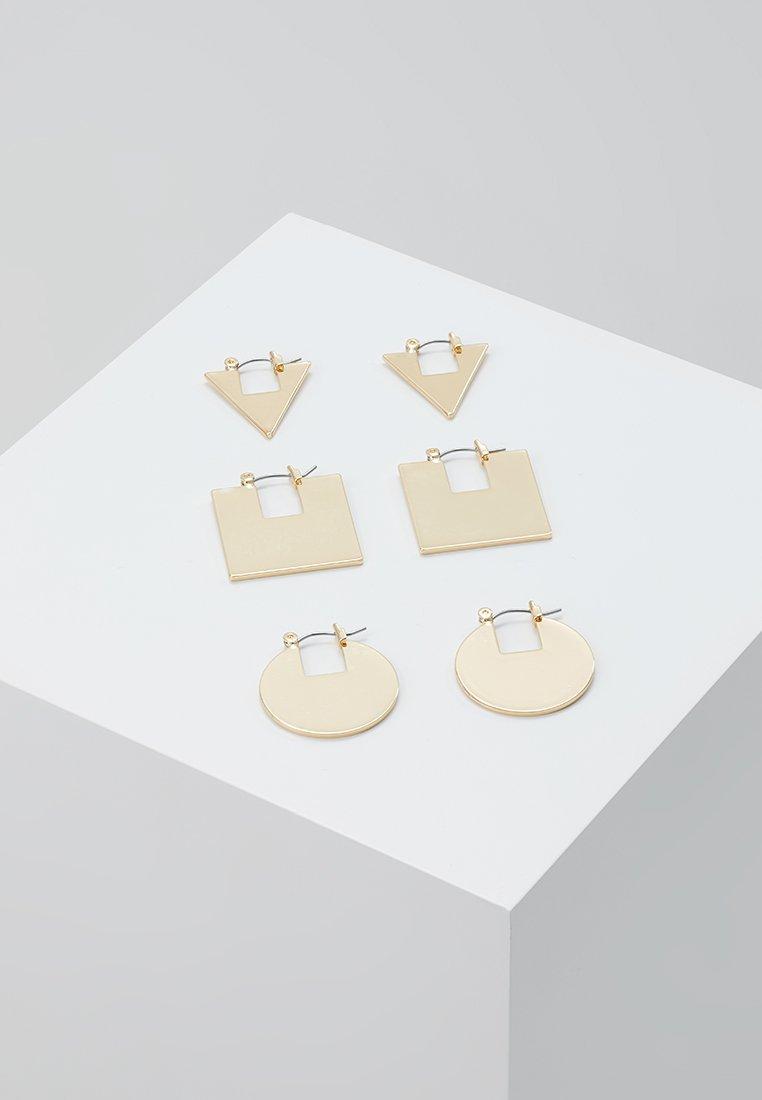 Monki - KITA HOOPS 3 PACK - Øreringe - gold-coloured