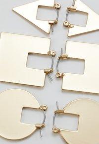 Monki - KITA HOOPS 3 PACK - Øreringe - gold-coloured - 2