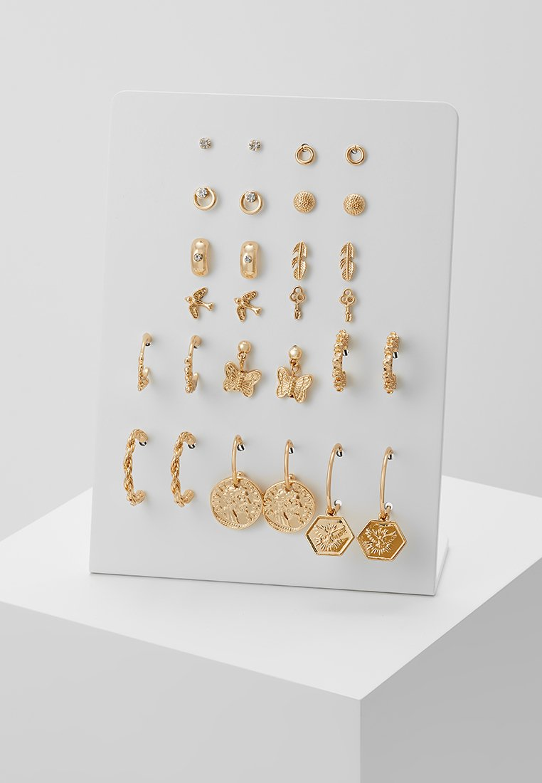 Monki - MILLA EARRINGS 14 PACK - Earrings - gold-coloured