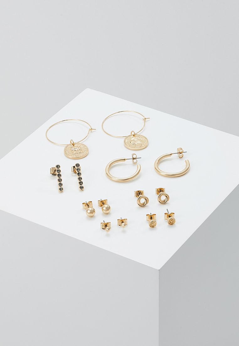 Monki - OLGA EARRINGS 7 PACK - Pendientes - gold-coloured