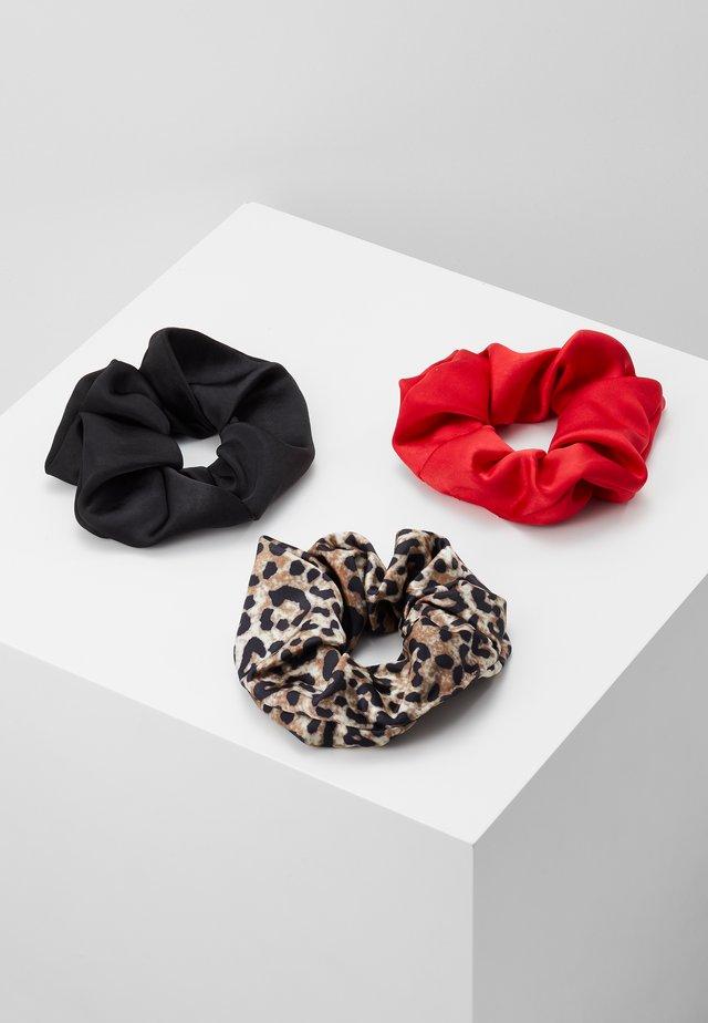 KELLY SCRUNCHIE 3 PACK - Haar-Styling-Accessoires - red/black