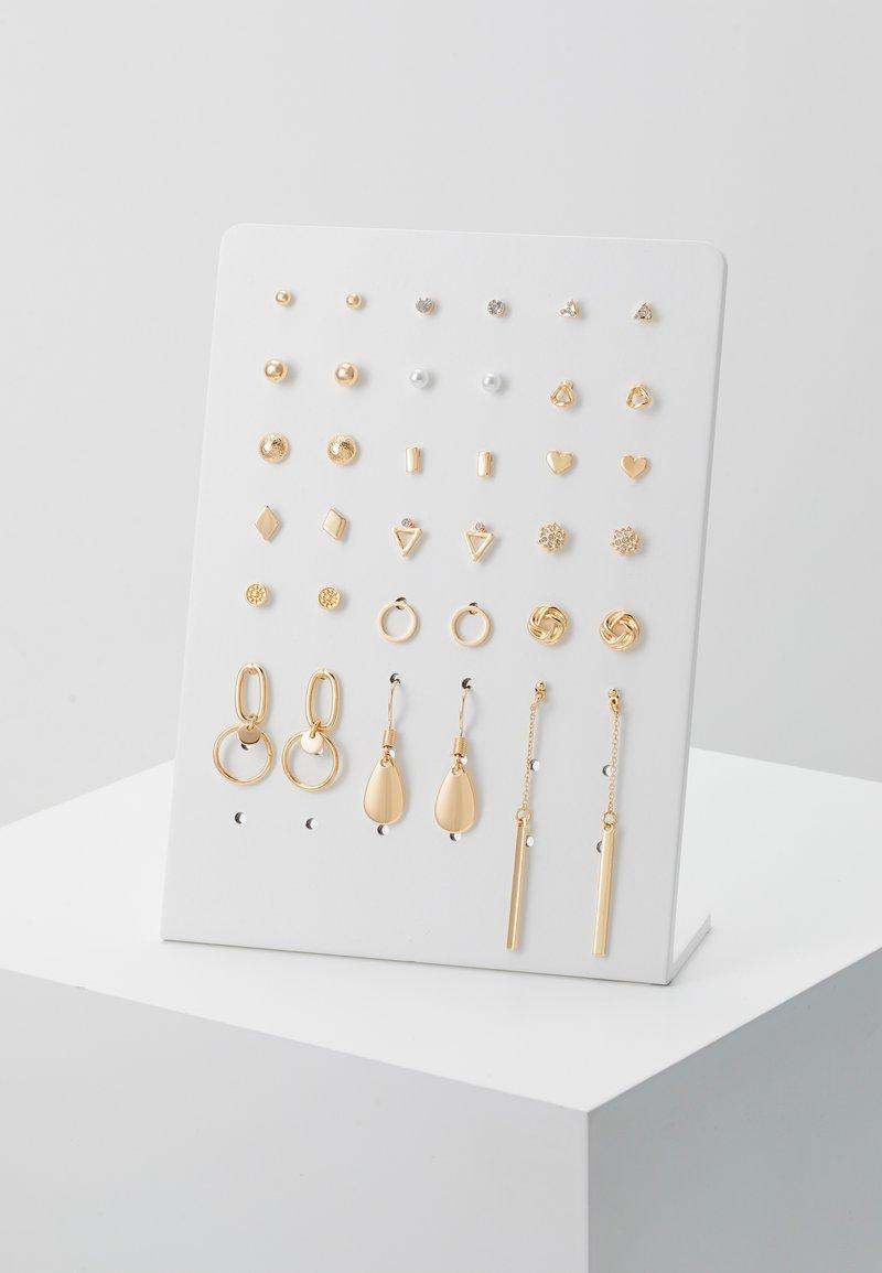 Monki - CARMELA EARRING 18 PACK - Pendientes - gold-coloured