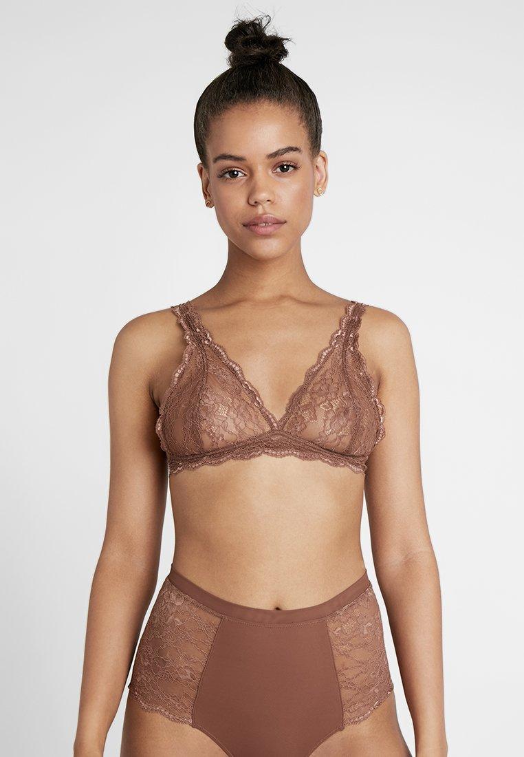 Monki - LONNIE BRA  - Kaarituettomat rintaliivit - brown