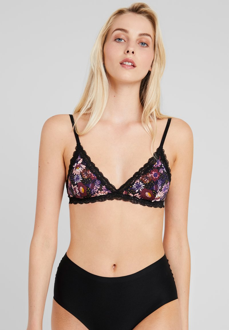 Monki - LINNEA BRA UNIQUE - Trekants-bh'er - midnight floral purple