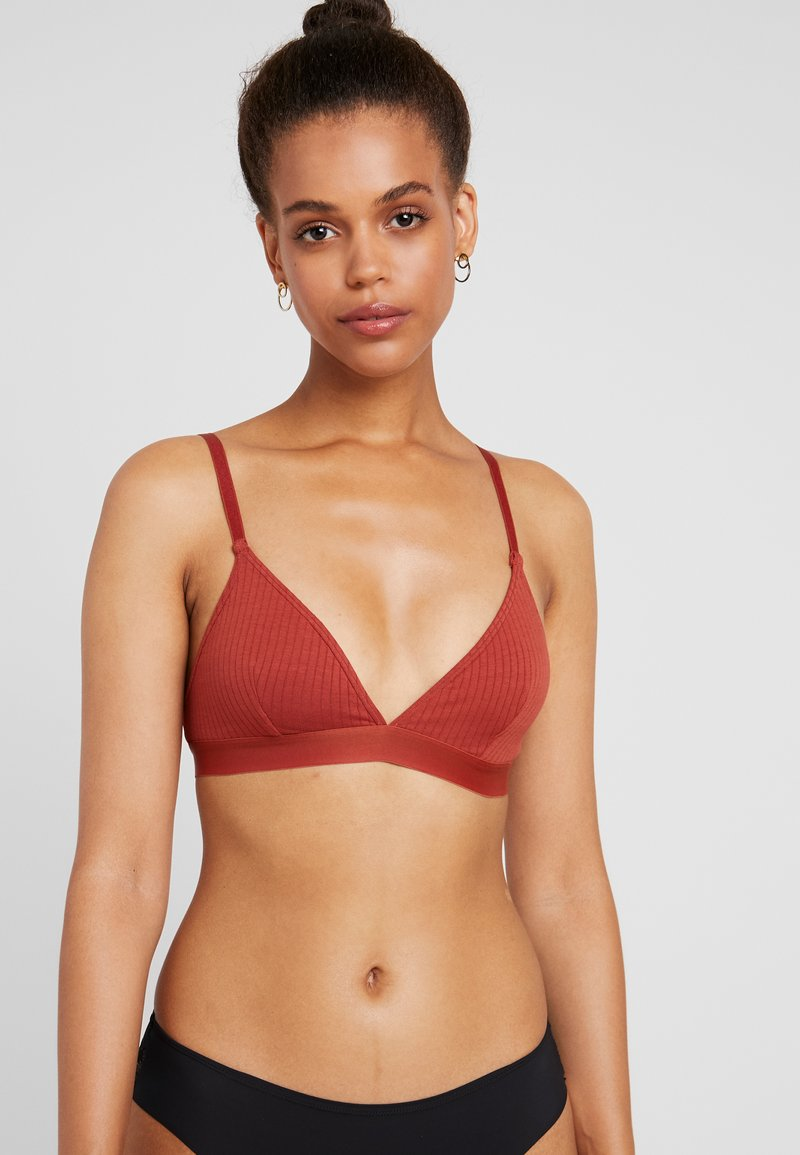 Monki - BRA - Trekants-bh'er - dusky orange