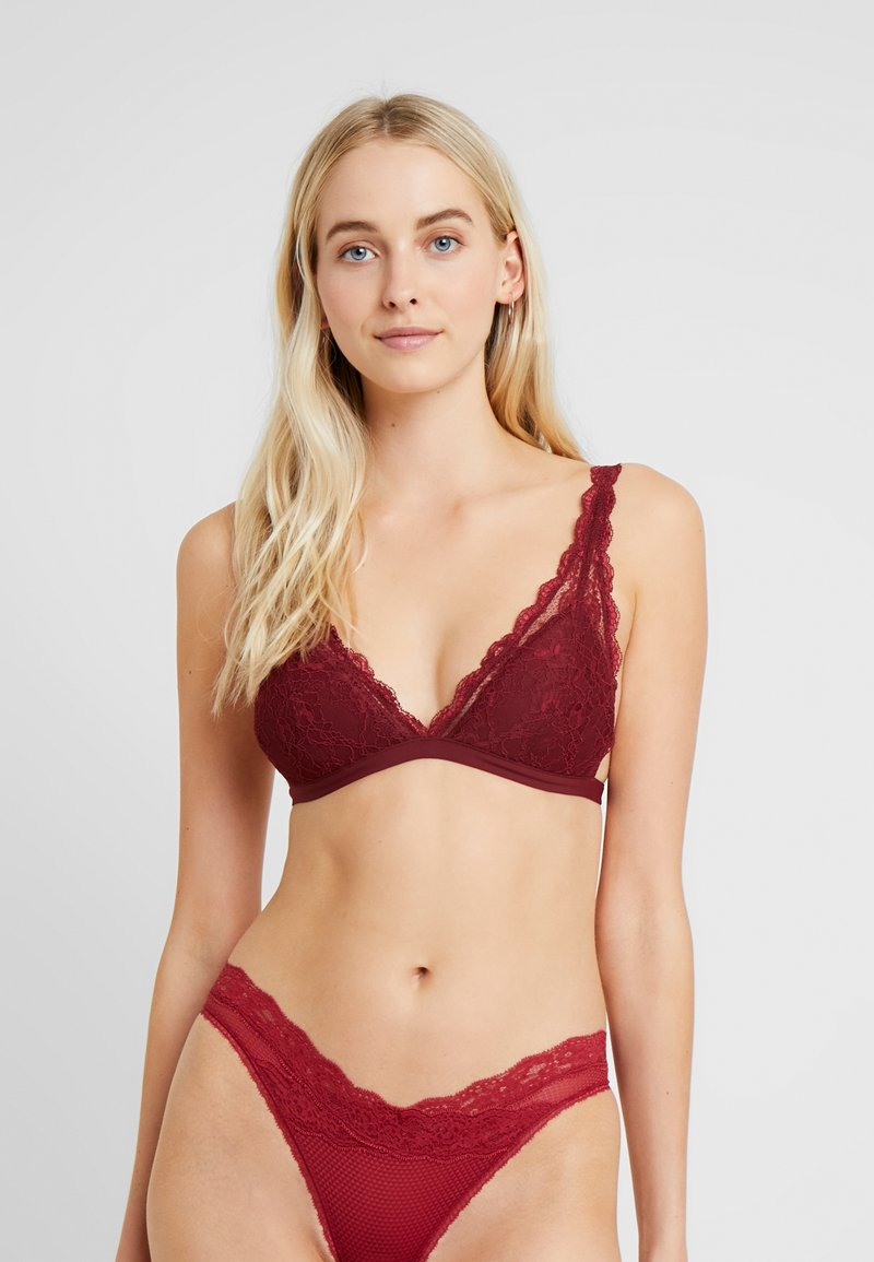 Monki - LUCIANA BRA - Triangle bra - wine red