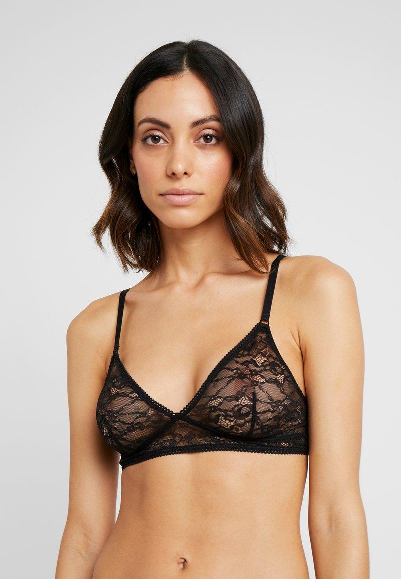Monki - ANNELI BRA DROP - Triangle bra - black