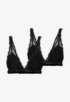 LUCIANA BRA 2 PACK - Triangle bra - black