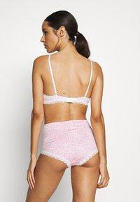 Monki - LINNEA BRA TINY DAISY PRINT SET - Underbukse - pink - 2