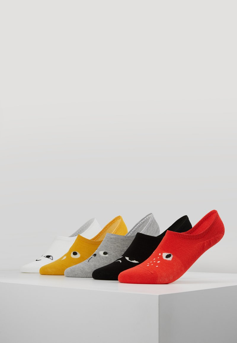 Monki - MIX SNEAKER DROP 5 PACK - Trainer socks - red/grey/yellow/black/white