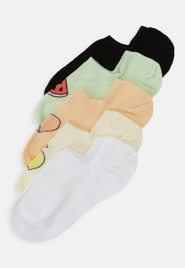 MIXED SNEAKER SOCKS 5 PACK - Füßlinge - white/yellow/black/soft peach/bright green
