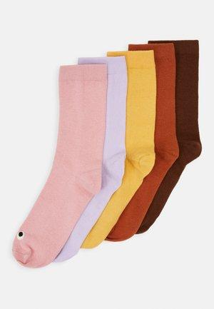 MONKI FACES 5 PACK - Socken - yellow/multi-coloured